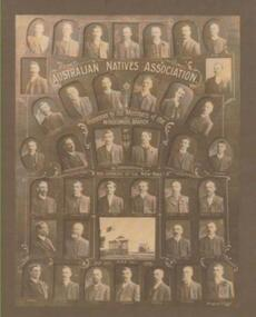 Photo, Richards & Co, Australian Natives Asociation.Windermere Branch no 53, Circa 1908