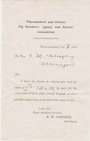 Licence, Pig Breeders Licence, 1903