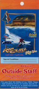 Surf Contest Pass, 2000 Bells Beach Competition Pass, 01/03/2000