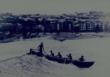 Photograph, Unknown, Surfboat at Bondi Beach 1923