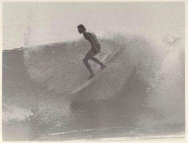Photograph, Rabbit wave ride, 1977 Stubbies Contest, Gold Coast, March 1977