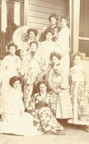 "Photograph, Group photograph (c.1909) captioned ""Tea Ladies, Mechanics Institute Bazaar, Ringwood"