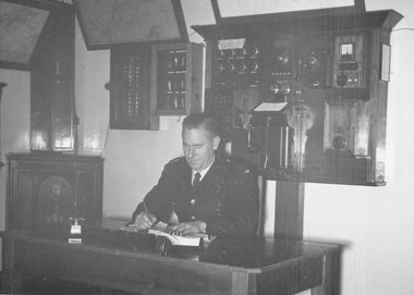 Photograph, Ringwood Fire Station control room, 1960