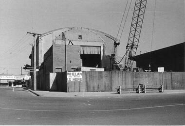 Photograph, Old Town Hall being demolished (Rear View). Ringwood 1971