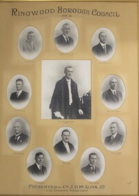Picture, Framed picture of Ringwood Borough Councillors 1928-1929, 1929