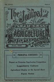 Booklet, The Journal of the Department of Agriculture of Victoria - June, 1920, June 1920