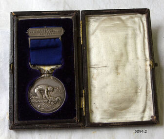 Medal, (estimated); after 1872 when the medal was introduced. The the first medal was awarded in 1874