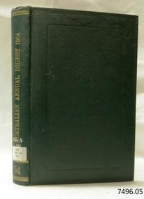 Book, The Australian Annual Digest 1954