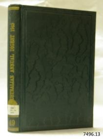 Book, The Australian Annual Digest Supplement 1949