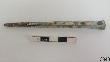 Functional object - Nail, late 1700s to late 1800s
