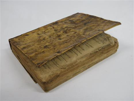 Photograph of a book covered in human skin