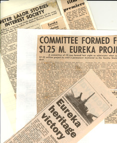 Newspaper clippings, Eureka Stockade Newspaper Clippings, 1923-2015