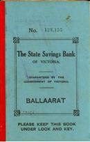 State Savings Bank of Victoria - Ballaarat Passbook for the School of Mines Science and Field Naturalists Club 1915-1917