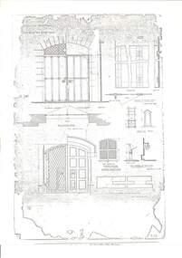 Plan, Proposed Additions to the Ballarat Gaol Gates