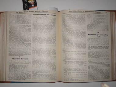 Book, Bound copies of the Ballarat School of Mines Students' Magazine, 1910-1912