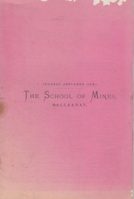Annual Report 1879, The School of Mines Ballaarat Annual Report, 29 December, 1879