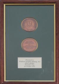 Medal - Numismatics, Ballarat School of Mines Centenary Medal, 1970