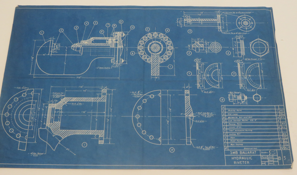 Federation university australia historical collection geoffrey blueprint technical drawing blueprint malvernweather Image collections