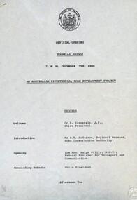 Documents, Tourello: Opening of Tourello Bridge; Tourello Hunt Club, 1909; Tourello Tennis Club; Government Land Auction, 1855