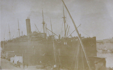 Photograph, Troopship, c1915