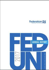 Book, Federation University Annual Report, 2017