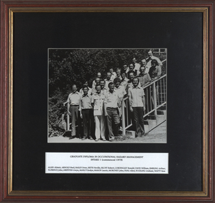 Photograph - Black and White, Graduate Diploma in Occupational Hazard Managment Intake 1, 1979
