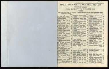 Book, Education Gazette, 1968