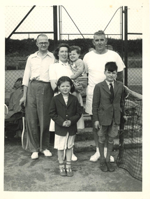 Photograph - Black and white photograph, Tennis