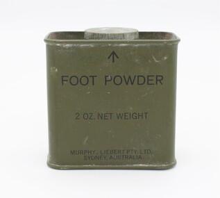 Tin, Foot Powder, c. 1960s