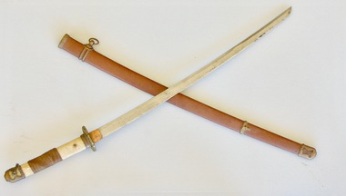 Sword, World War Two Japanese NCO/Officer Sword and Scabbard, 1932 to 1944