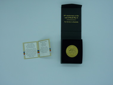 Memento, 2005 End of World War II 60th Anniversary Service To Australia Medallion, 2005