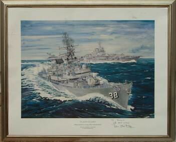 Plane Guard Print, Plane Guard -  HMAS Perth escorting HMAS Melbourne