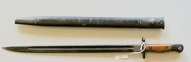 Lithgow 1907 Bayonet and scabbard, Lithgow 1907 Bayonet and scabbard Serial Number A 76966