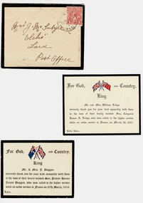 Sympathy Cards Mc Intyre, 1917 and 1918