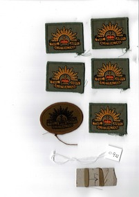 Australian Army cloth badges, Cloth Badges - Oval and khaki and square and green