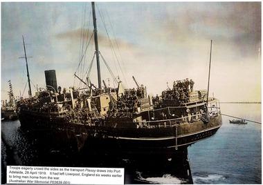 Photograph, Troops aboard Transport ship Plassy