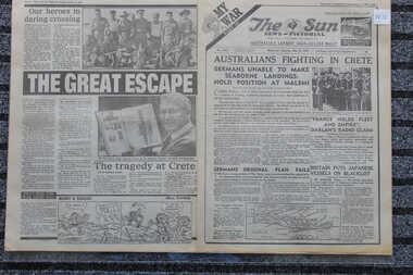 Newspaper - The Sun  Newspaper - 24/5/1941 - My war Part 14 - Australians Fighting in Crete, Newspaper dated 24/5/1941 Australians Fighting in Crete
