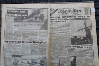 Newspaper - My War 46, The Sun 27/9/1944 - Arnhem skytroops Fight On