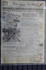Newspaper - The Herald - dated 7/6/1944- Allied Invasion Leaders Strike Confident Note, Allied Invasion Leaders Strike Confident Note. - D-Day