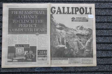 Newspaper - The Sun dated 22/4/1990 - Gallipoli 75 th Annivrsary 28 page Lift out, 75 th Annivrsary 28 page Lift out - The Sun
