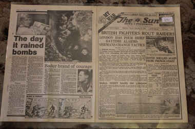 Newspaper - Te Sun Newspaper Dated 17/9/1940 - Special - My War Part 9, The SUN Dated 17/9/1940 Special - My War Part 9 - British Raiders Rout Raiders