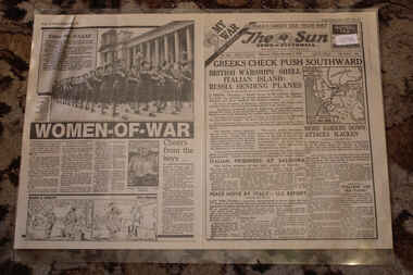 Newspaper - The Sun Newspaper - Special Datd 1/11/1940 - My War Part 11 - Greeks Check Push Southward, The Sun Newspaper - Special - British Warships Shell Italian Island : Russia Sends Planes