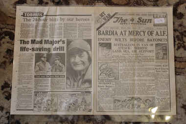 Newspaper - The Sun Newspaper - Special - Dated - 6/1/1941  My War Part 12 - Bardia At Mercy of A.I.F, The Sun NewsPaper Special - Dated 6/1/1941 - Victory At Bardia  - Australians in Van Of Attack