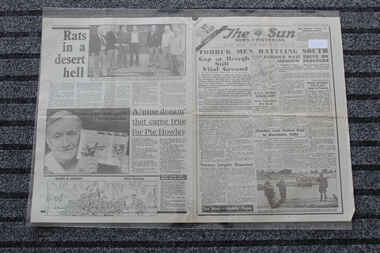 Newspaper - The Sun Newspaper Dated 29/11/1941 - Special - My War Part 17 - Tobruk Men Battling South, Local Newpaper Reporting World War 2 Events - Special - Rats In A Desert Hell