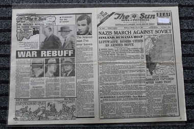 Newspaper - The Sun Newspaper Dated 23/6/1941 - Special - My War Part 18 - Nazis March Against Soviets, Local Newspaper Dated 23/6/1941 - special - My War Part 18 - Nazis March Against Soviets - The Turning Point