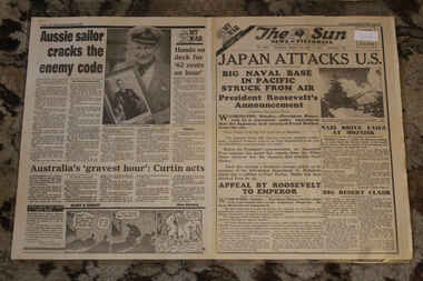 Newspaper - The Sun Newspaper Dated 8/12/1941 - Special - My War Part 20 - Japan Attacks U.S. - Japan Bombs Pearl Harbor, Local Newspaper Dated 8/12/1941 - My War Part 20 - Japan Attacks U.S. - Japan Bombs Pearl Harbor