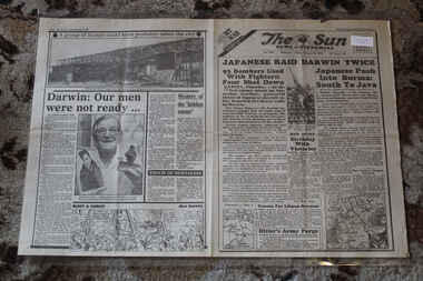 Newspaper - The Sun Newspaper dated 20/2/1942 - Special - My War Part 23 - Japanese Raid Dawin Twice, Local Newspaper Reporting on World War 2 Events - My War Part 23 - Japanese Raid Dawin Twice
