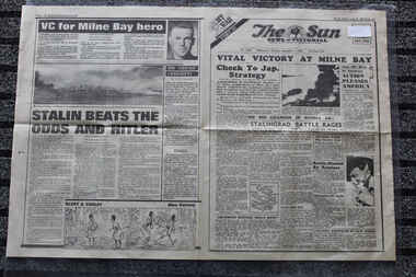 Newspaper - The Sun Newspaper Dated 1/9/1942 - Special - My War Part 30 - Vital Victory At Milne Bay - Victory at Milne Bay, Local Newspaper Dated 1/9/1942 - Special - My War Part 30 - Vital Victory At Milne Bay - Victory at Milne Bay