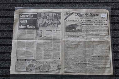 Newspaper - The Sun Newspaper Dated 7/11/1942 - Special - My War Part 31, Local Newspapr Dated 7/11/1942 _ Special - My War Part 31 - Complete Victory In Egypt - El Alamein