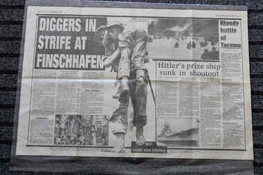 Newspaper - The Sun Newspaper Dated 19/5/1943 - Special - My War Part 41 - Cassino Falls - True Grit In Sattelberg, Local Newspaper Dated 19/5/1943 - Special - My War Part 41